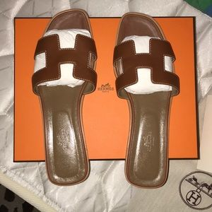 Hermes Oran Sandals size 41❗️USED good condition